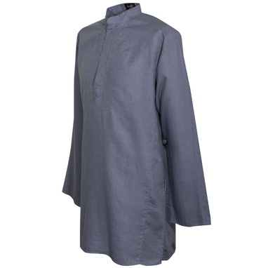 Paul Weller for Pretty Green Men's Grey Indian Shirt on exshoesme.com