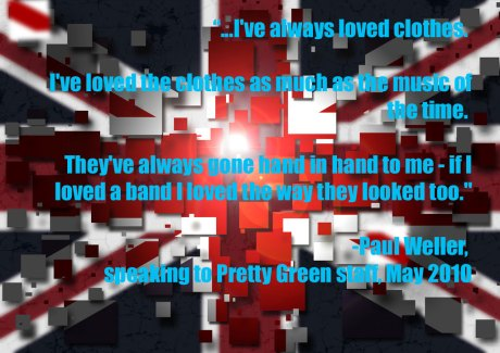 Union Jack Mod Image by Guy Davies with Paul Weller Quote 2 on exshoesme.com
