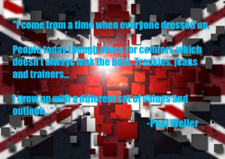Union Jack Mod Image by Guy Davies with Paul Weller Quote 1 on exshoesme.com