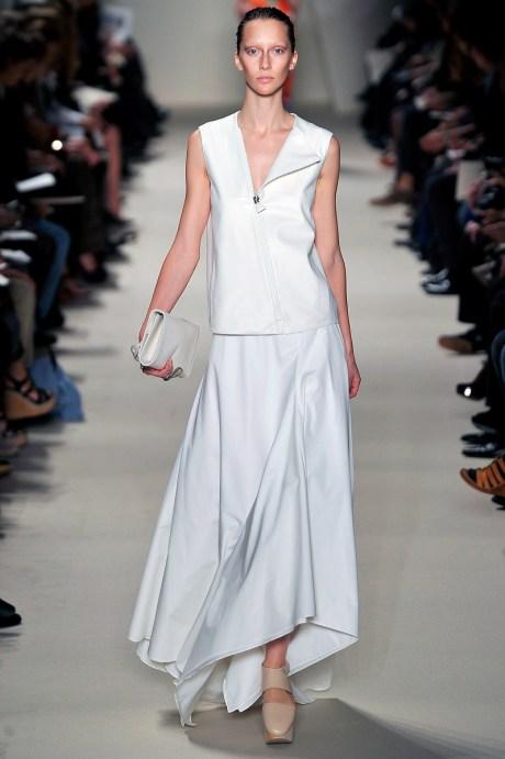 Akris SS11 White Vest and Long Skirt on exshoesme.com