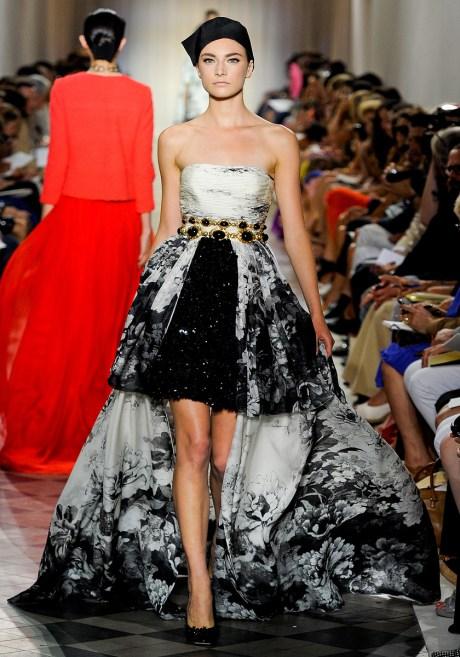 Giambattista Valli Fall 2011 Haute Couture Black and White Gown on exshoesme.com