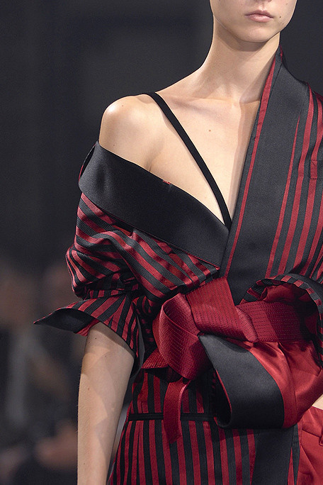 Haider Ackermann SS11 Black and Red Stripes on exshoesme.com