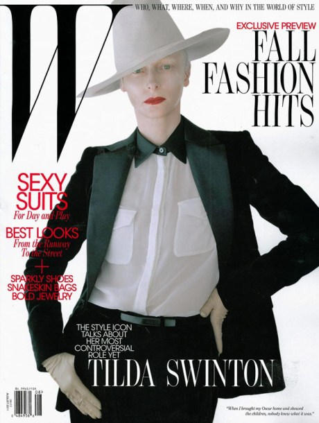 Tilda Swinton W Mag August 2011 Cover on exshoesme.com