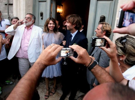 Sofia Coppola in Alaia wedding dress on exshoesme.com