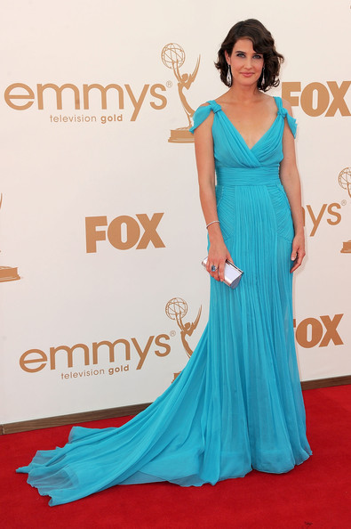 1. Cobie Smulders in Alberta Ferretti at the 2011 Emmy Awards on Exshoesme.com Photo by Frazer Harrison Getty