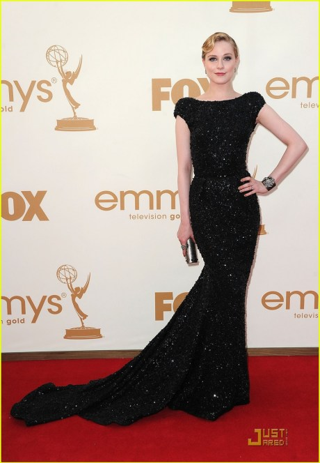 Evan Rachel Wood in Elie Saab at the 2011 Emmy Awards on Exshoesme.com