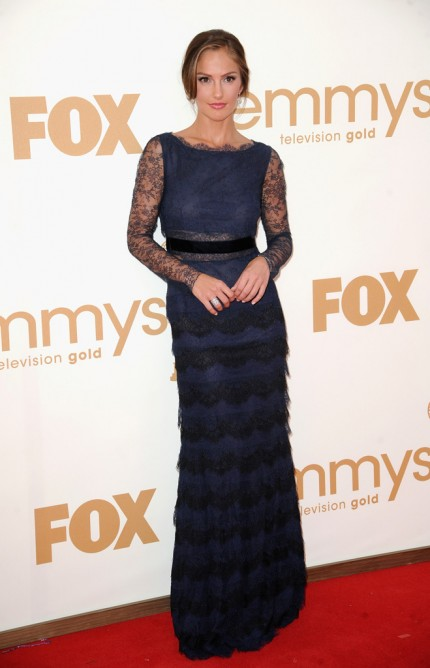4. Minka Kelly in Dior at the 2011 Emmy Awards on Exshoesme.com Photo by Jeff Kravitz Film Magic
