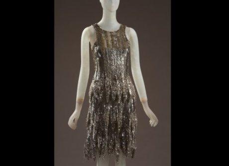 Daphne Guinness FIT Exhibit Preview Shimmering Chanel Dress on Exshoesme.com
