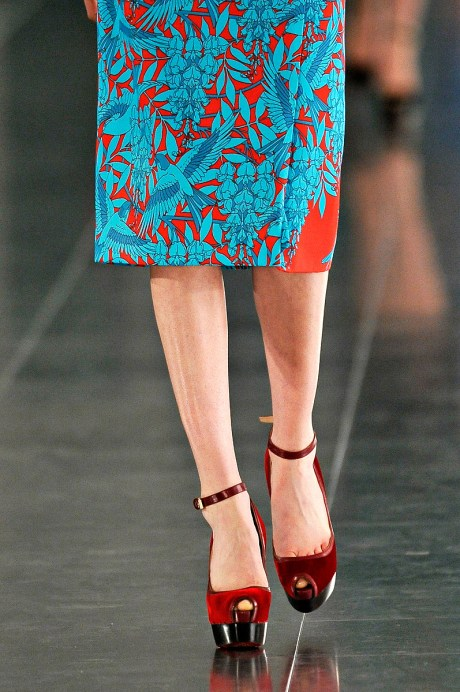 Jonathan Saunders FW11 Red and Blue on Exshoesme.com