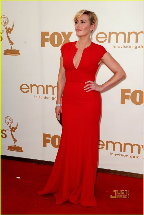 Kate Winslet at the 2011 Emmy Awards on exshoesme.com
