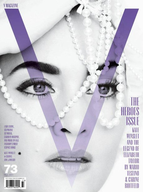 Kate Winslet on the cover of V Mag Fall 2011 on exshoesme.com