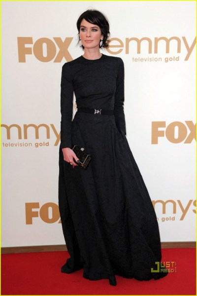 Lena Headey at the 2011 Emmy Awards on exshoesme.com