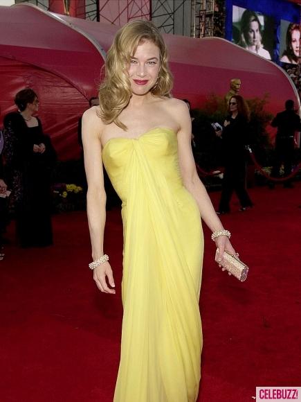 Renee Zelleweger in Vintage Jean Desse at the 2011 Oscars on exshoesme.com