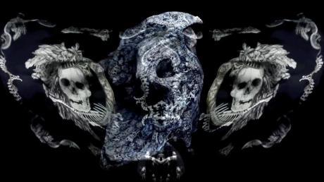 Alexander McQueen Broken Porcelain Skull Scarf 5 on Exshoesme