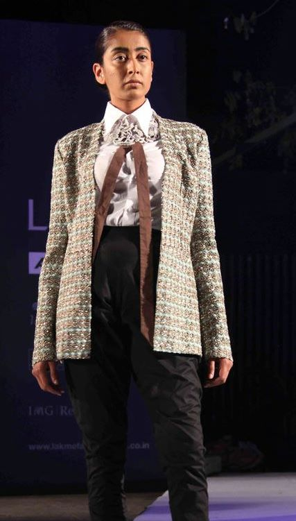 Anamika Khanna Spring Resort 2011 Tweed Jacket on Exshoesme.com
