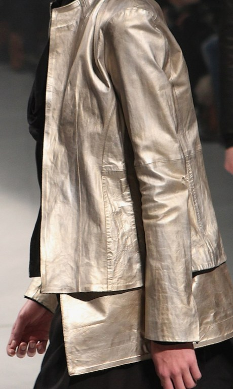 Julius FW11 Menswear Dull Gold Metallic Jacket on Exshoesme.com
