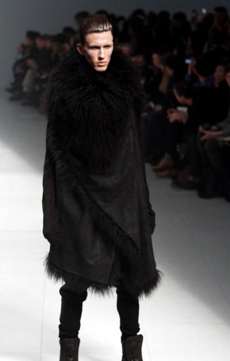 Julius FW11 Menswear Fur Collar Coat on Exshoesme.com