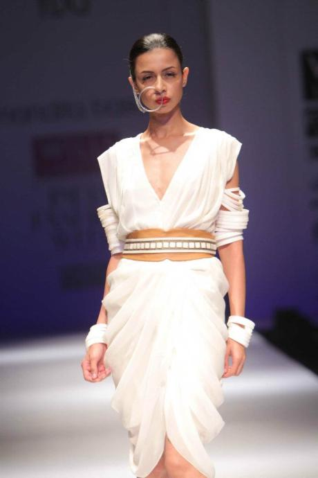 Nandita Basu SS12 White Dress and Bracelets on Exshoesme.com
