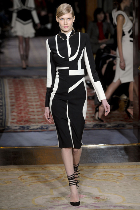 Antonio Berardi FW11 Graphic Black and White Dress on Exshoesme.com