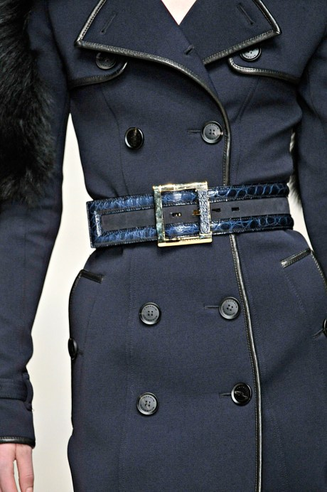 Burberry FW11 Blue Piped Trench Coat Detail on Exshoesme.com