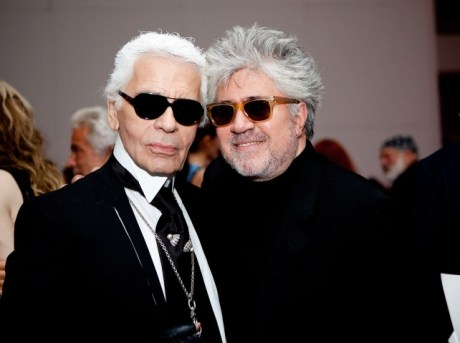 Karl Lagerfeld and Pedro Almodovar at Almodovar Benefit at MoMA on Exshoesme.com