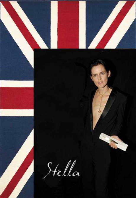 Stella Tennant, winner of the Model Award at the 2011 British Fashion Awards. Collage by Jyotika Malhotra on Exshoesme.com