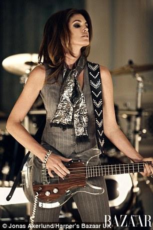 Cindy Crawford as John Taylor in Duran Duran's Girl Panic in UK Harper's Bazaar December 2011 by Jonas Akerlund