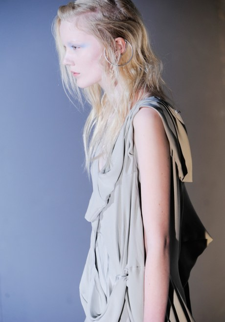 Maison Martin Margiela FW11 Draped Sleeveless Dress Detail on Exshoesme.com