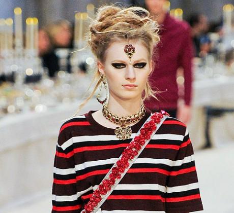 Chanel Métiers d'Art PF12 Paris-Bombay Collection T-Shirt and Indian Jewels on Exshoesme.com