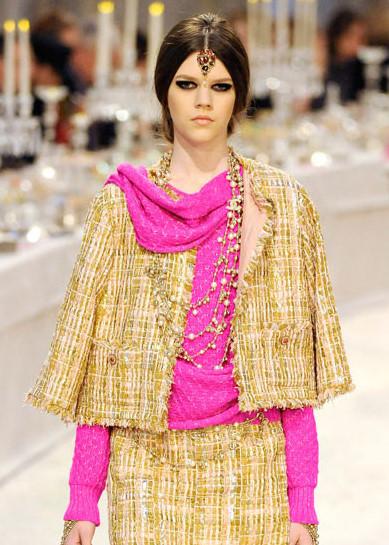 Chanel Métiers d'Art PF12 Paris-Bombay Collection Gold and Pink Suit on Exshoesme.com