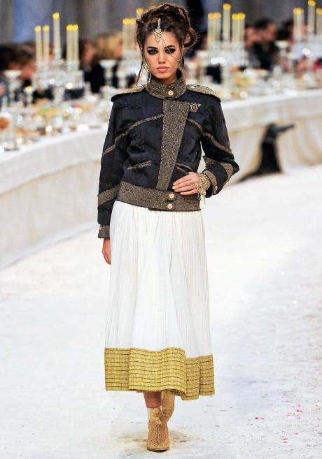 Chanel Métiers d'Art PF12 Paris-Bombay Collection Sari Border Skirt on Exshoesme.com