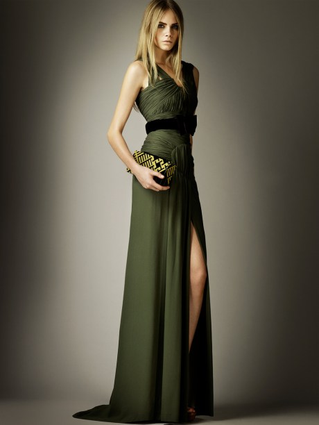 Burberry Prorsum PF12 Green Gown on Exshoesme.com