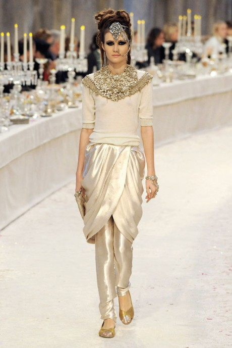 Chanel Métiers d'Art PF12 Paris-Bombay Collection Beaded Neckline and Dhoti Pants on Exshoesme.com