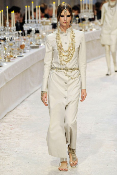 Chanel Métiers d'Art PF12 Paris-Bombay Collection Floor Length Coat and Jewels on Exshoesme.com