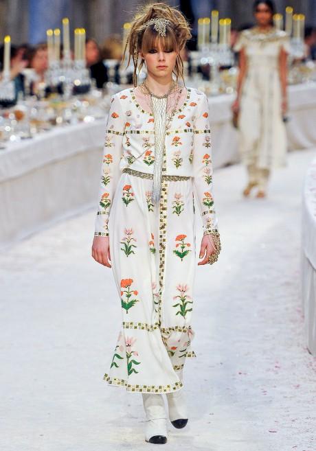 Chanel Métiers d'Art PF12 Paris-Bombay Collection Printed Maxi Dress on Exshoesme.com