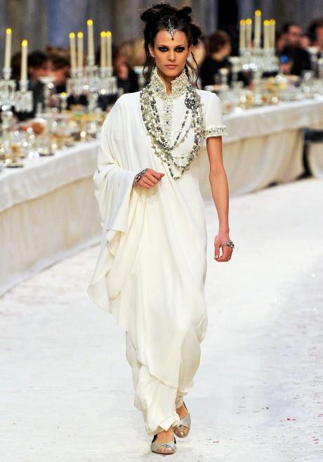 Chanel Métiers d'Art PF12 Paris-Bombay Collection Sari-esque Dress on Exshoesme.com