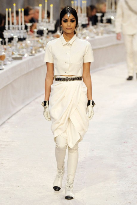 Chanel Métiers d'Art PF12 Paris-Bombay Collection Shirt, Belt and Dhoti Skirt on Exshoesme.com