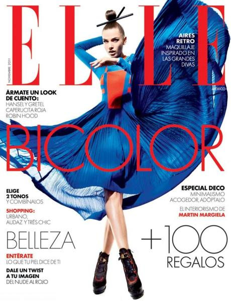 Daniela Mirzac photographed by Santiago Ruisenor for the cover of Elle Mexico November 2011 on Exshoesme.comDaniela Mirzac photographed by Santiago Ruisenor for the cover of Elle Mexico November 2011 on Exshoesme.com