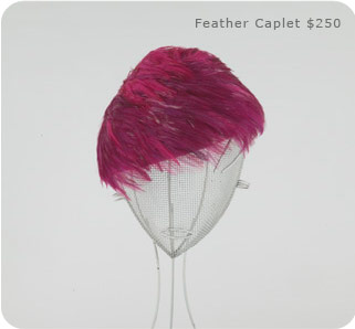 Feather Caplet by Karyn Gingras of Lilliput Hats on Exshoesme.com