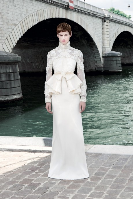 Givenchy-FW11-Couture-White-Gown-Front-on-Exshoesme.com