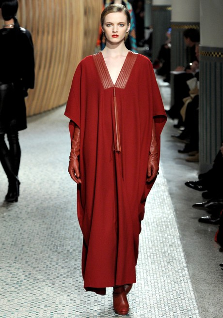 Hermes FW11 Brick Red Caftan on Exshoesme.com