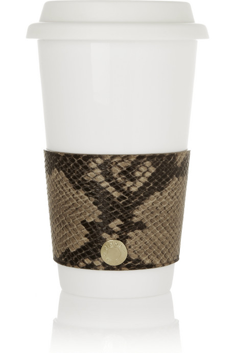 Jimmy Choo Snakeskin Coffee Cup Sleeve on Exshoesme.com