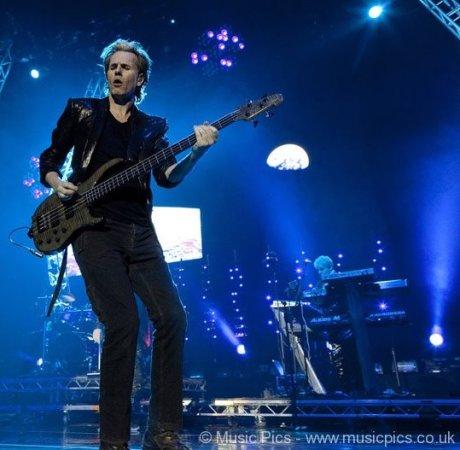 John Taylor of Duran Duran performing at 02 Arena in London on Dec 12, 2011 on Exshoesme.com