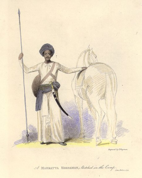 Maratha Soldier with Horse on Exshoesme.com
