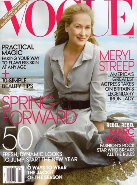 Meryl Streep photographed by Annie Leibovitz for US Vogue January 2012 on Exshoesme.com