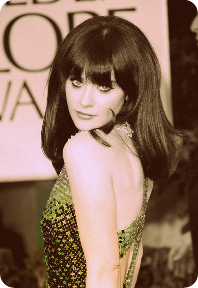 4 Zooey Deschanel's big 60s pouf at the 2012 Golden Globe Awards on Exshoesme.com
