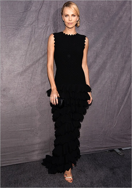 Charlize Theron in Alaïa in January 2012 on Exshoesme.com
