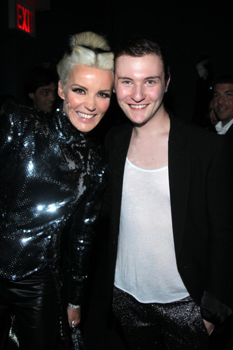 Daphne Guinness and Hogan McLaughlin at the opening of the Daphne Guinness Exhibit at the Museum at FIT on September 15, 2011 on Exshoesme.com