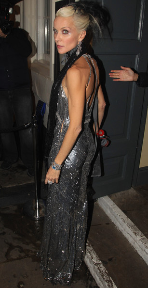 Daphne Guinness at the Bryan Ferry Olympia Launch Dinner at Dean Street Townhouse in October 2010 on Exshoesme.com