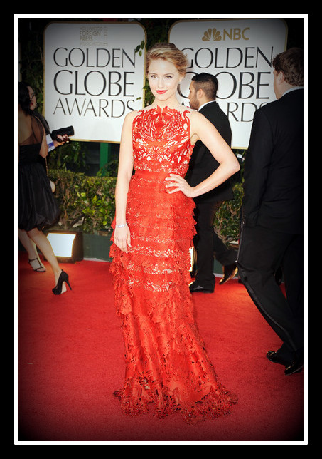Dianna Agron in Giles  at the 2012 Golden Globe Awards on Exshoesme.com